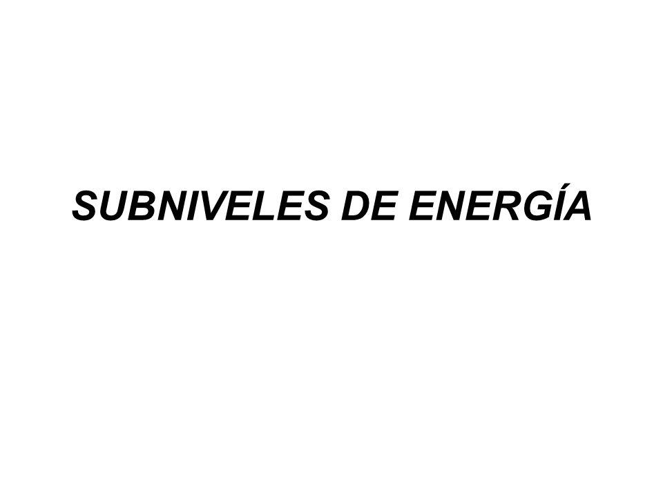 SUBNIVELES DE ENERGÍA