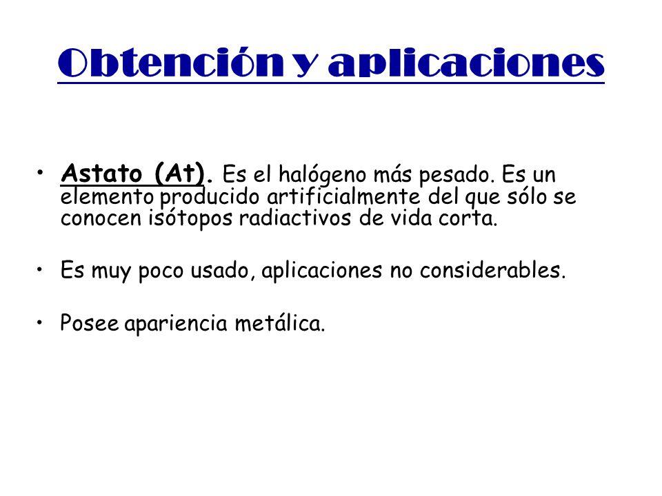 Obtención y aplicaciones