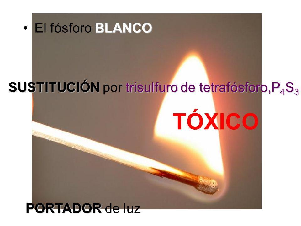 TÓXICO El fósforo BLANCO
