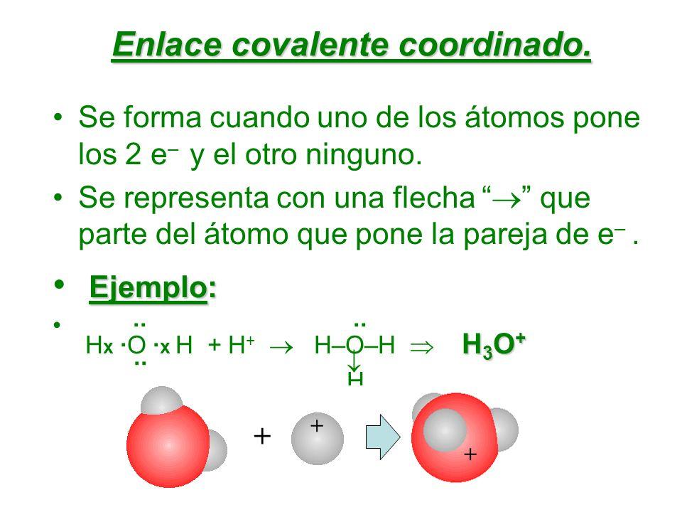 Enlace covalente coordinado.