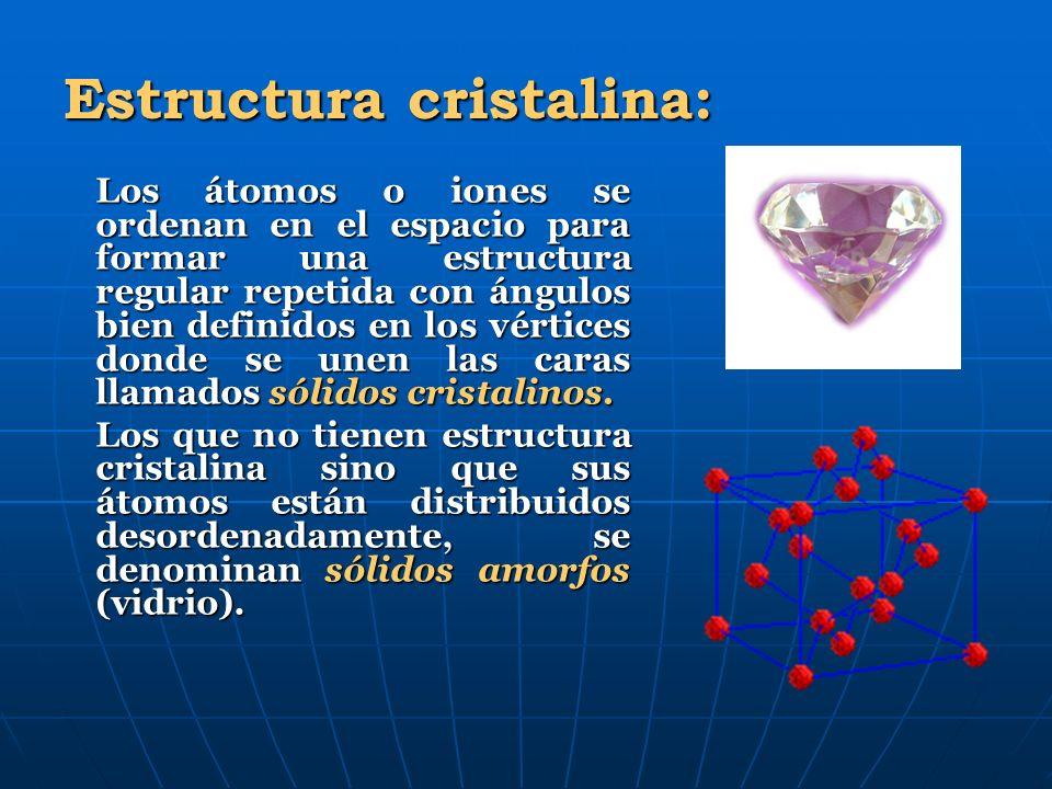 Estructura cristalina: