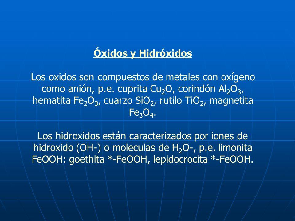 Óxidos y Hidróxidos