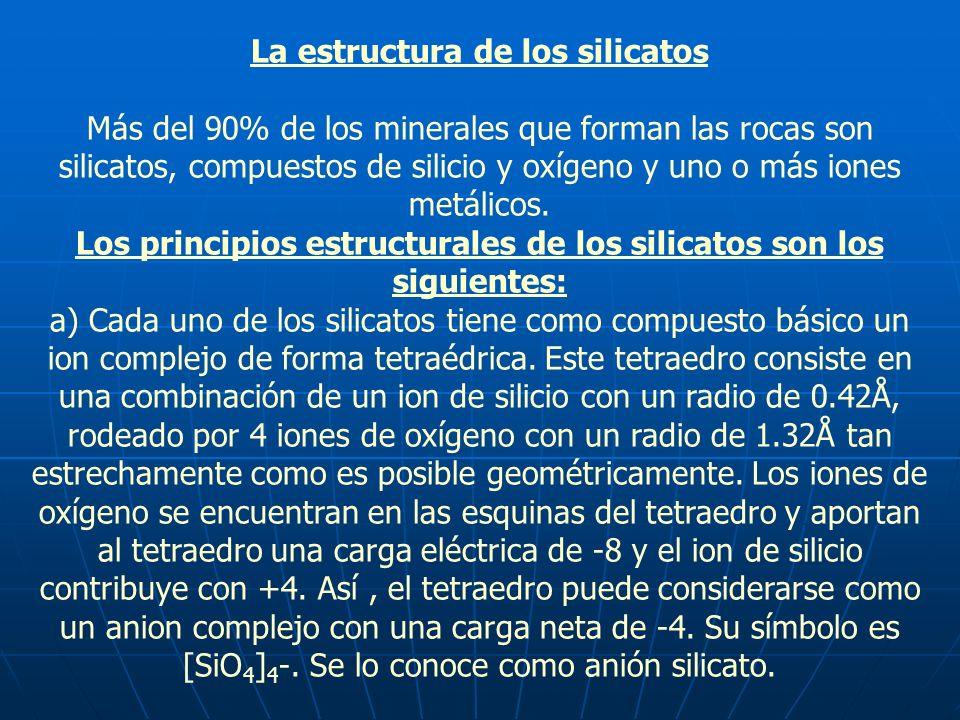 La estructura de los silicatos