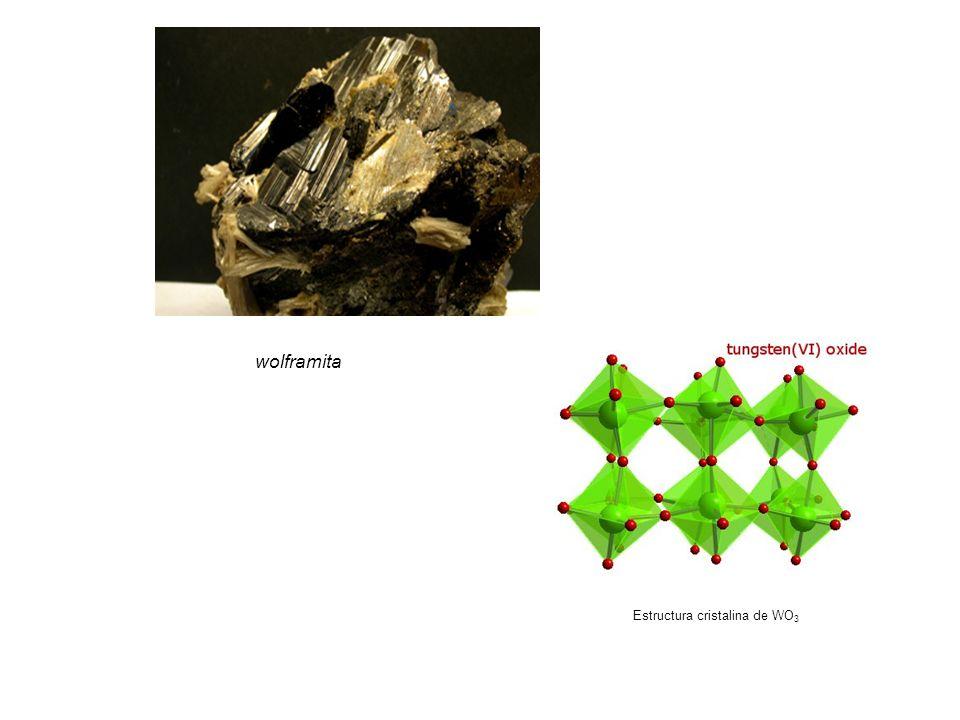 wolframita Estructura cristalina de WO3 51