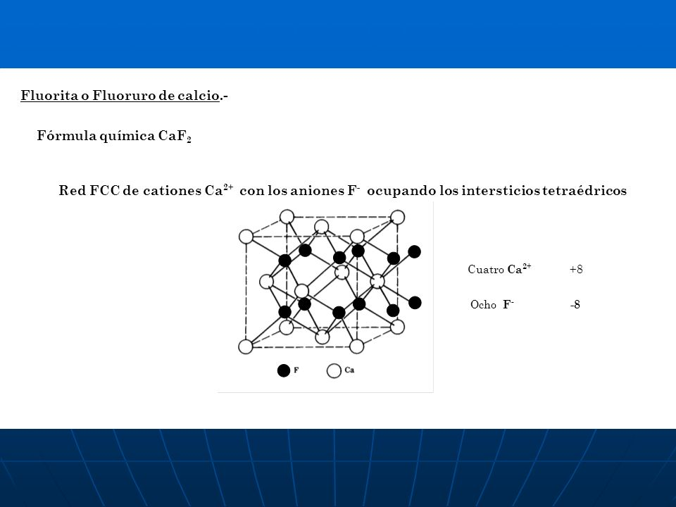 Fluorita o Fluoruro de calcio.-