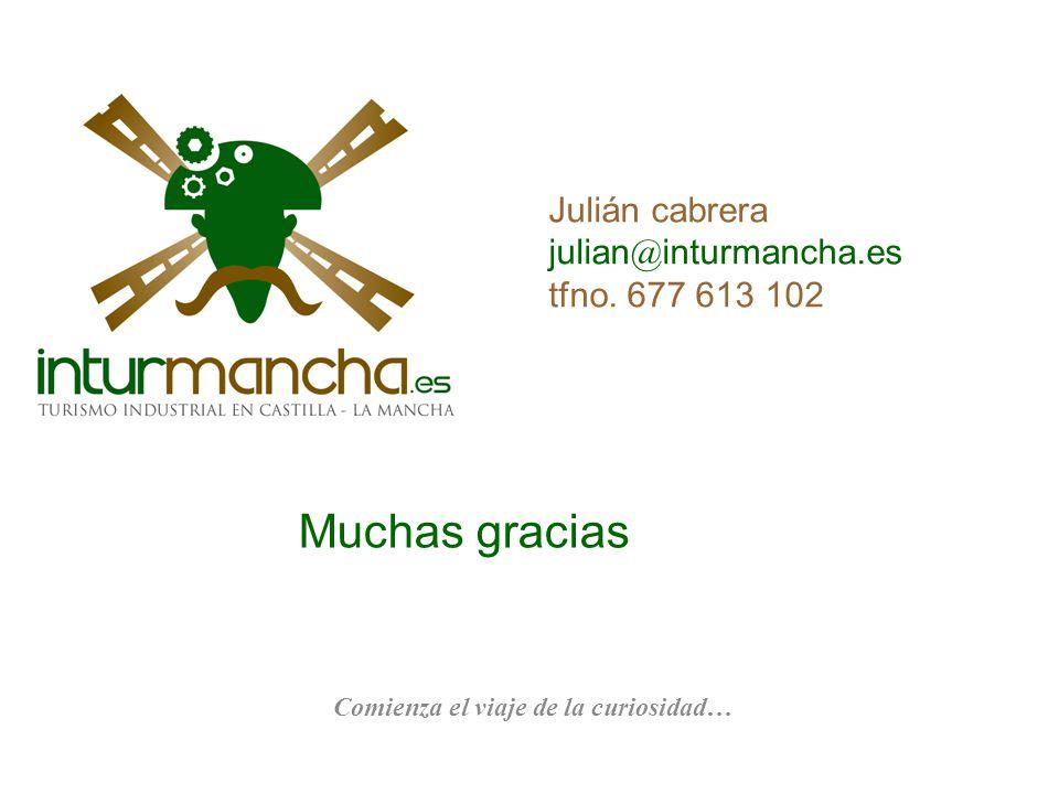 Julián cabrera julian@inturmancha.es tfno. 677 613 102