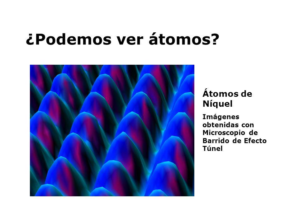 ¿Podemos ver átomos Átomos de Níquel