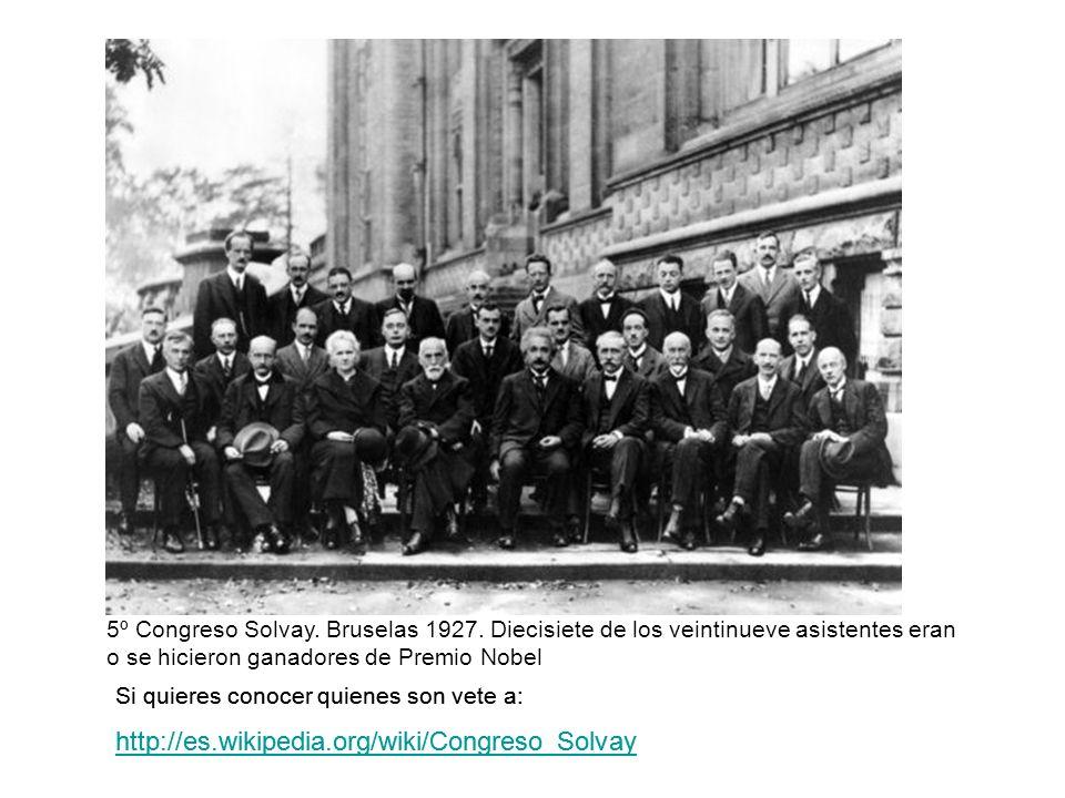 5º Congreso Solvay. Bruselas 1927