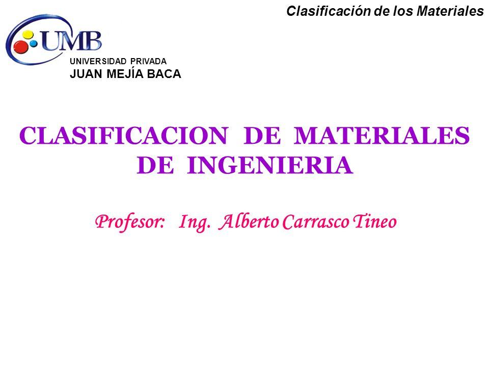 CLASIFICACION DE MATERIALES DE INGENIERIA