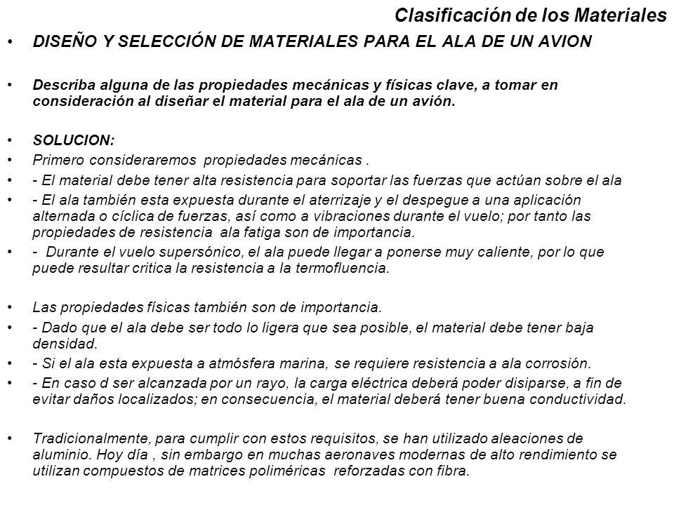 DISEÑO Y SELECCIÓN DE MATERIALES PARA EL ALA DE UN AVION