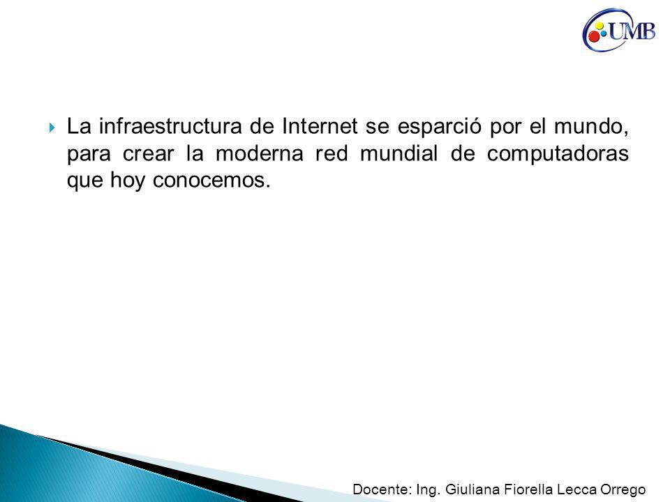 La infraestructura de Internet se esparció por el mundo, para crear la moderna red mundial de computadoras que hoy conocemos.