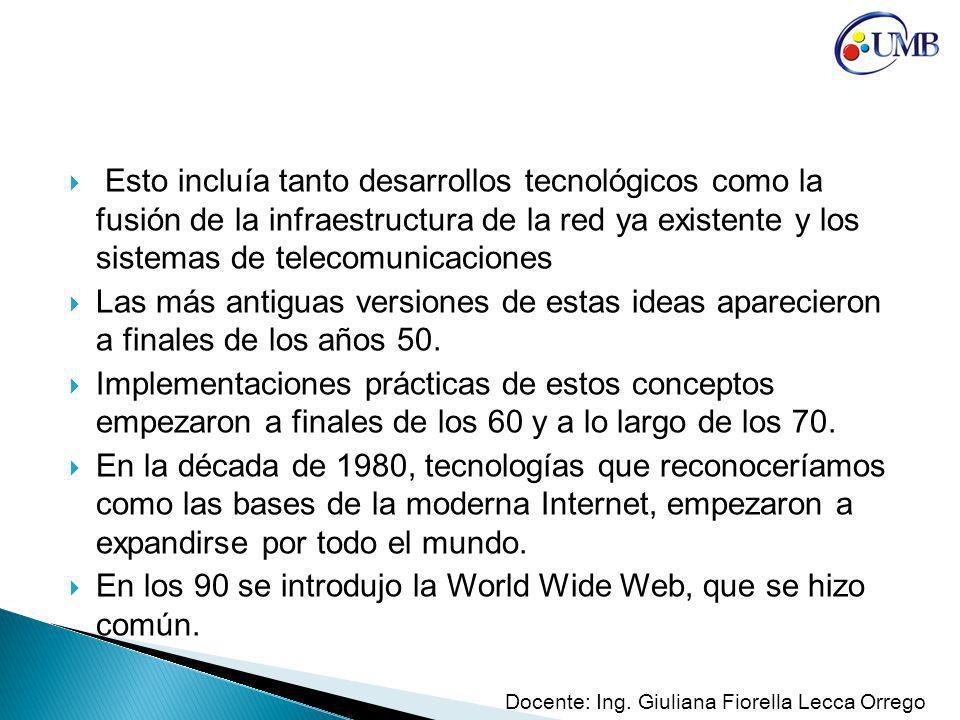 En los 90 se introdujo la World Wide Web, que se hizo común.