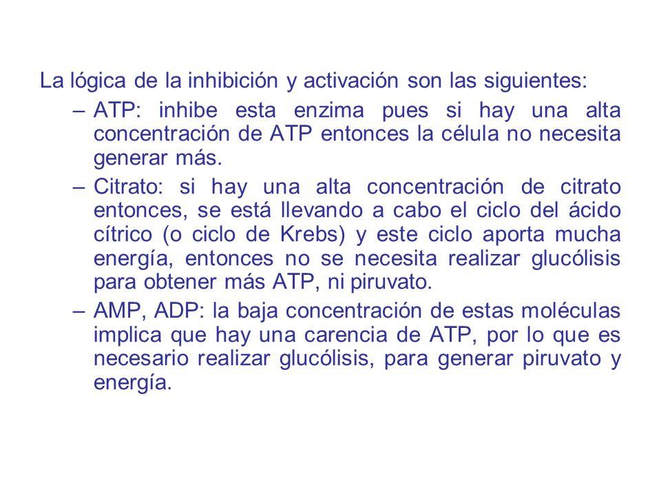 La lógica de la inhibición y activación son las siguientes: