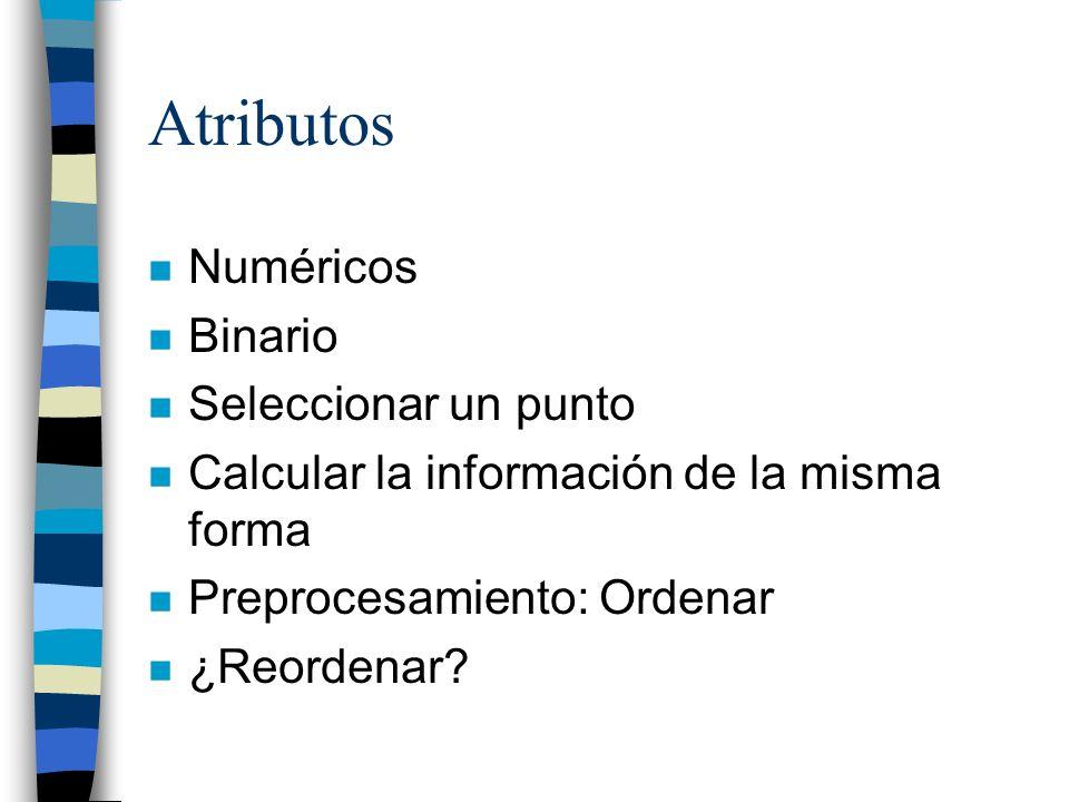 Atributos Numéricos Binario Seleccionar un punto