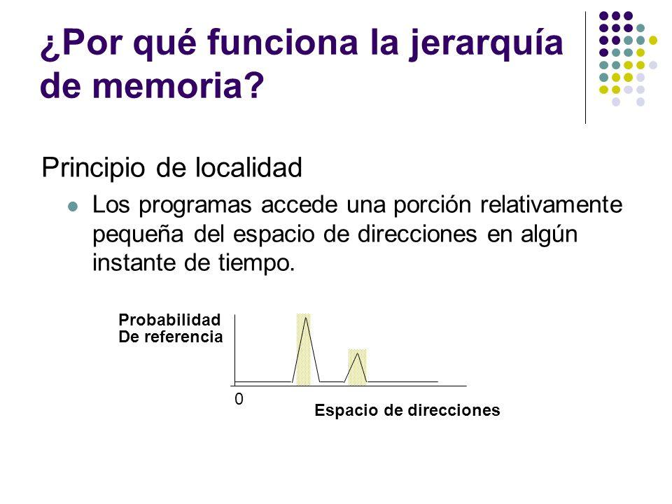 ¿Por qué funciona la jerarquía de memoria