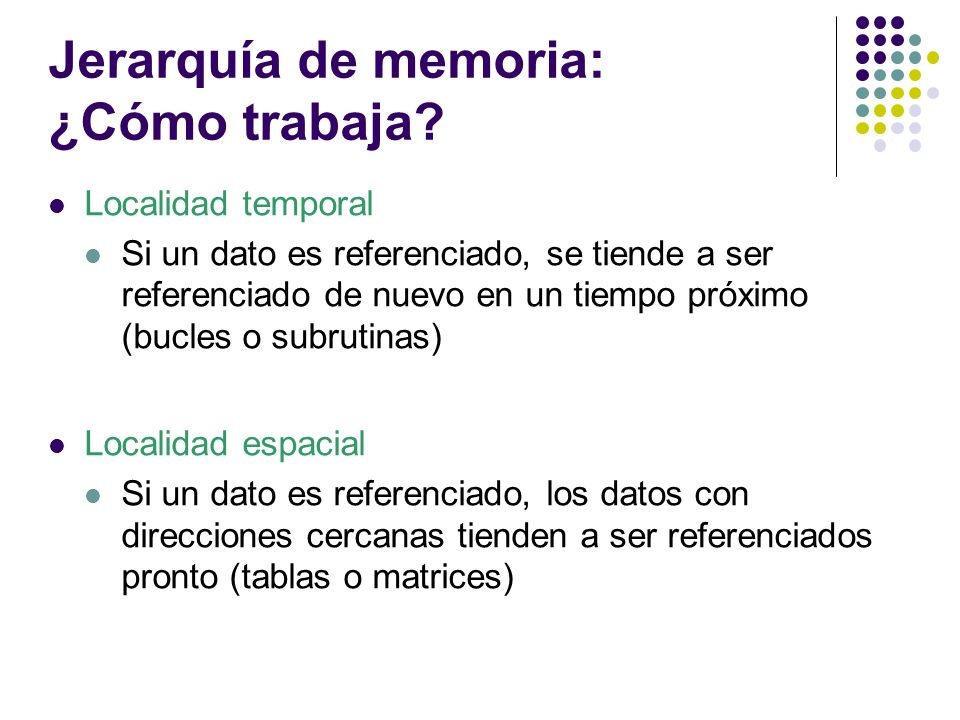 Jerarquía de memoria: ¿Cómo trabaja