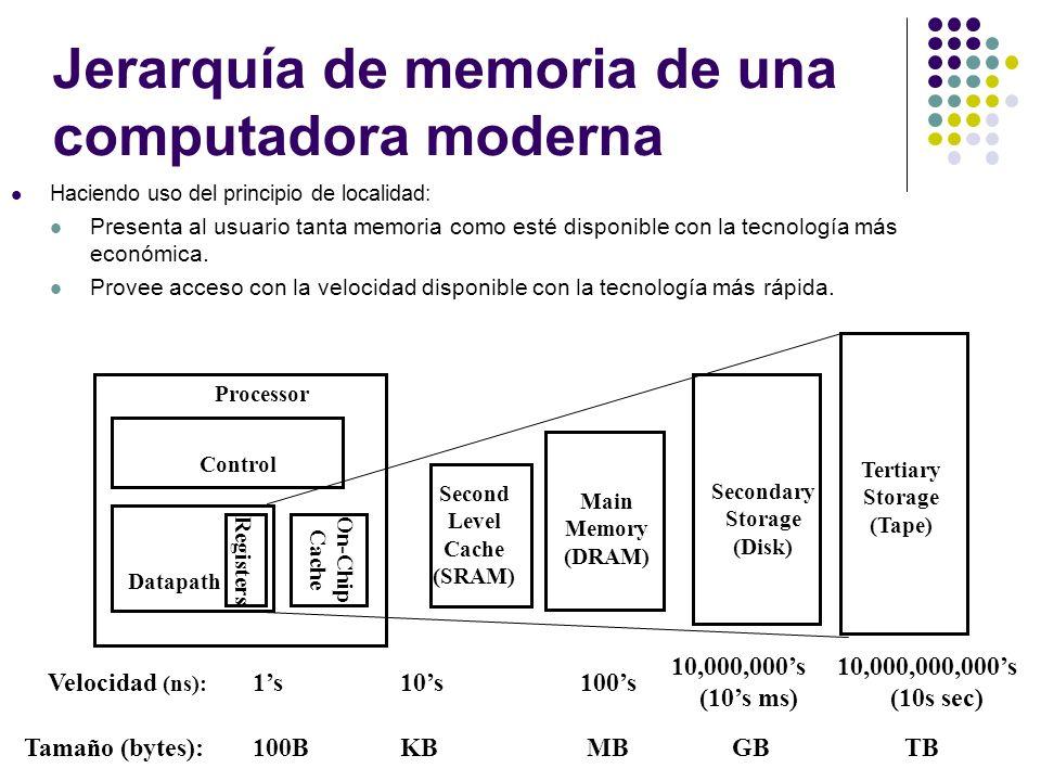 Jerarquía de memoria de una computadora moderna