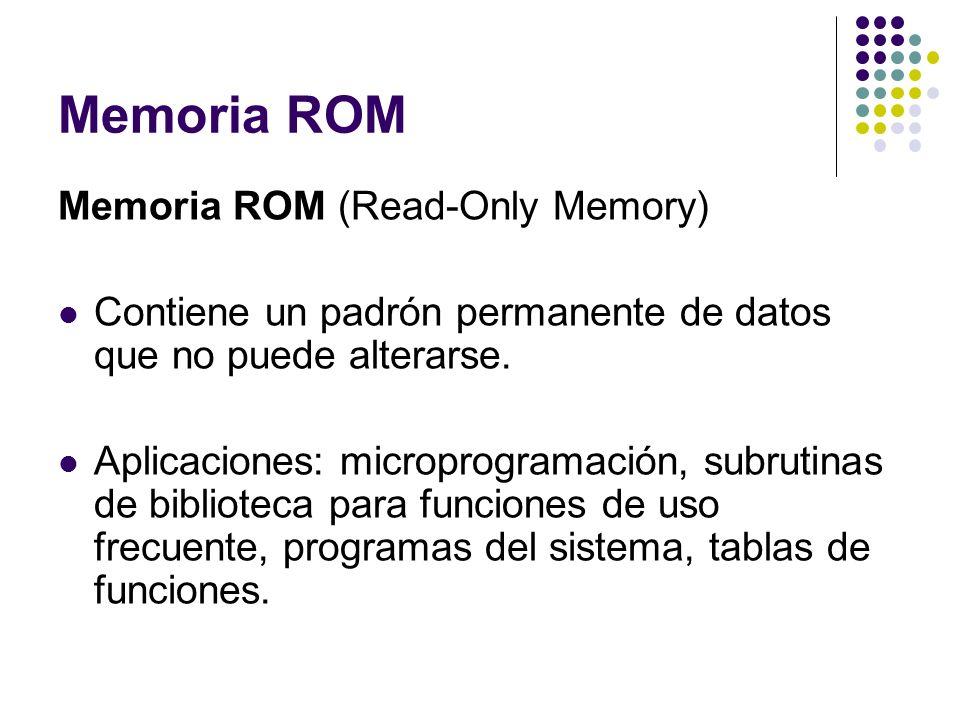 Memoria ROM Memoria ROM (Read-Only Memory)
