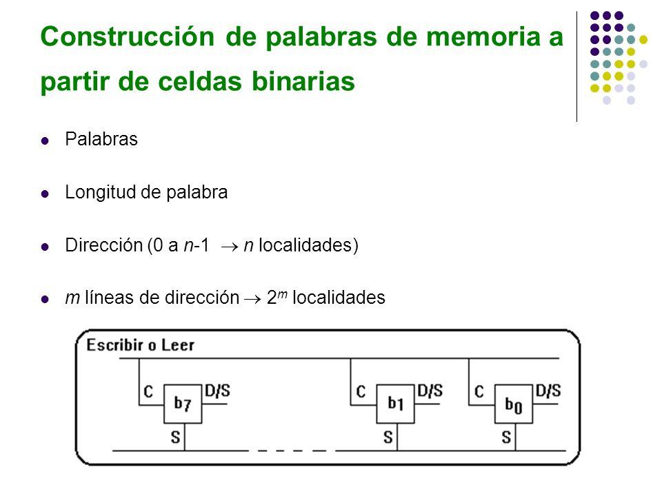Construcción de palabras de memoria a partir de celdas binarias