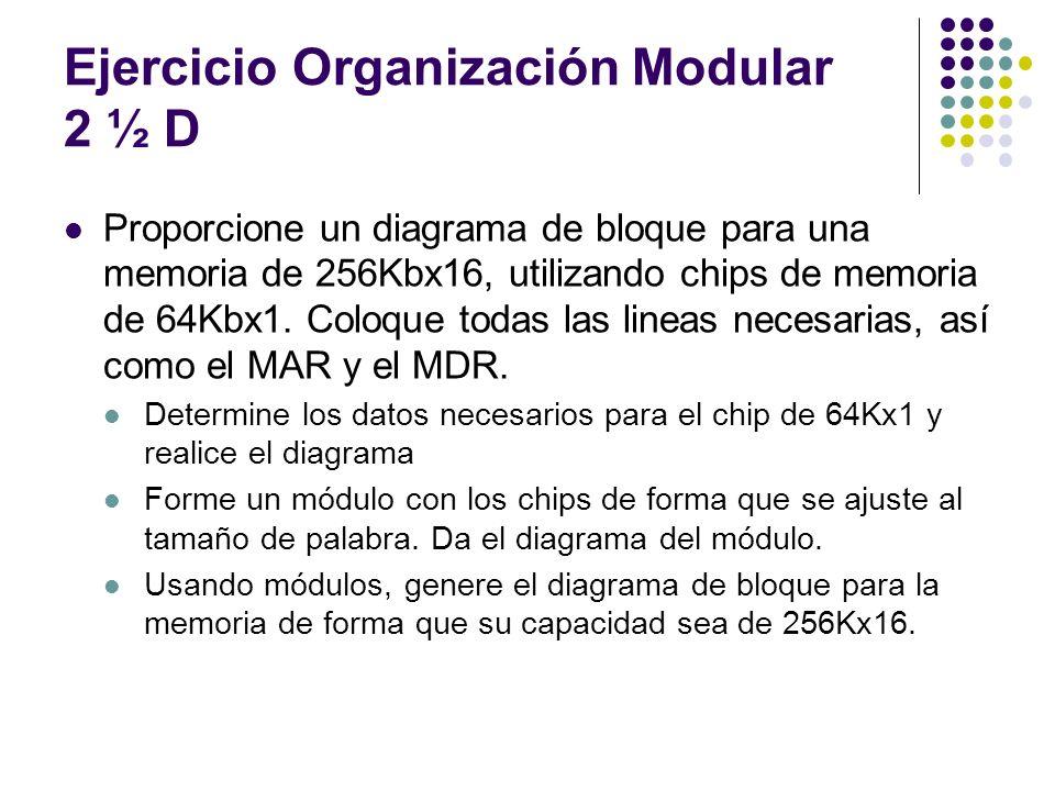 Ejercicio Organización Modular 2 ½ D