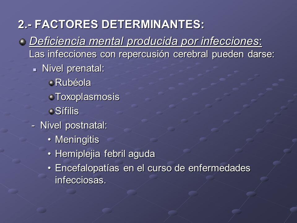 2.- FACTORES DETERMINANTES: