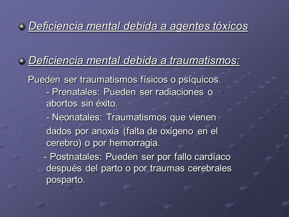 Deficiencia mental debida a agentes tóxicos
