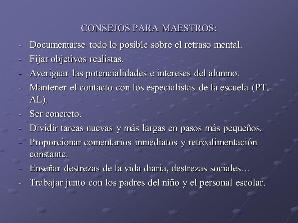 CONSEJOS PARA MAESTROS: