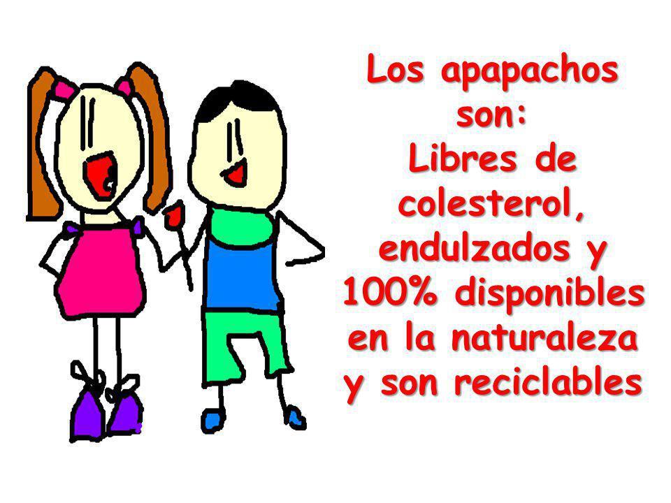 Los apapachos son: Libres de colesterol, endulzados y 100% disponibles en la naturaleza y son reciclables.