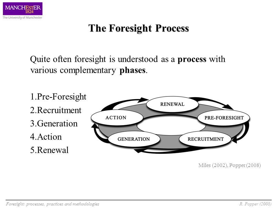 The Foresight ProcessQuite often foresight is understood as a process with various complementary phases.
