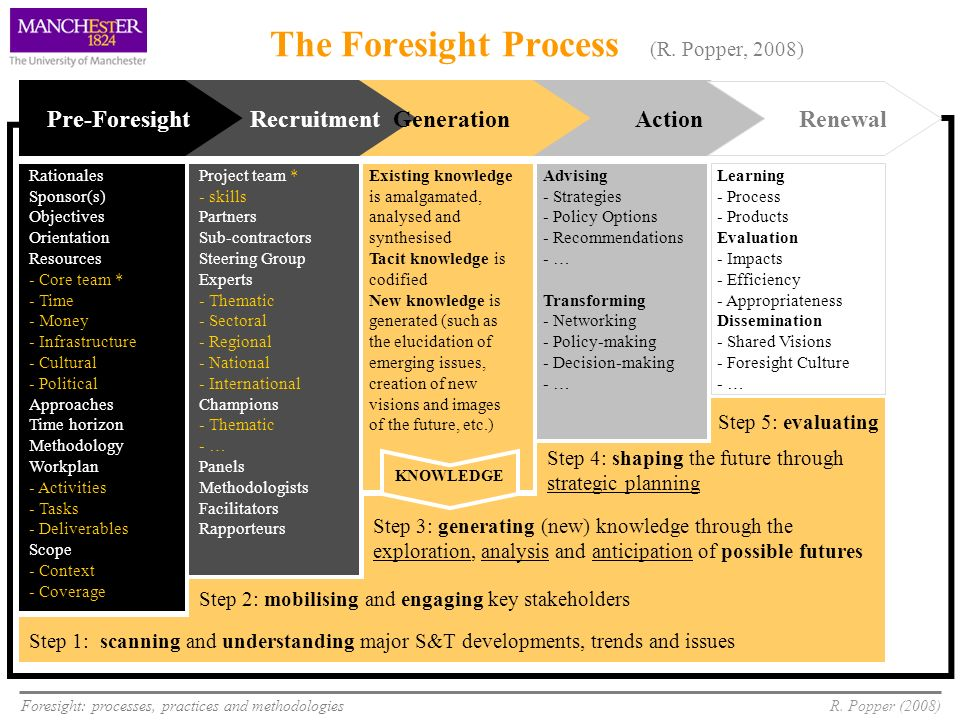 The Foresight Process (R. Popper, 2008)