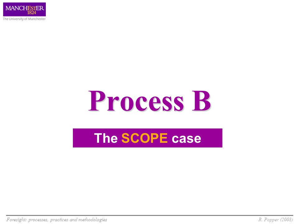 Process B The SCOPE case 5