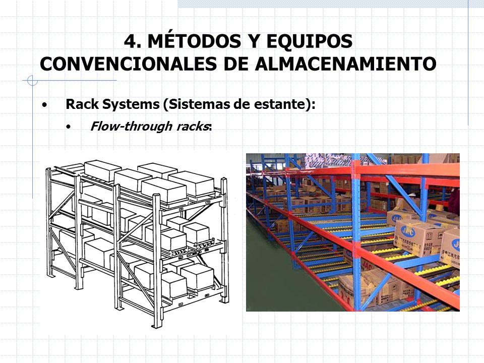 4. MÉTODOS Y EQUIPOS CONVENCIONALES DE ALMACENAMIENTO