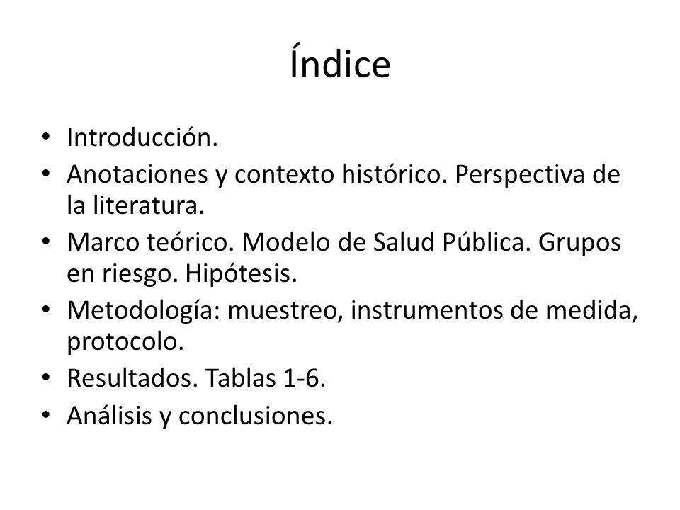 Índice Introducción. Anotaciones y contexto histórico. Perspectiva de la literatura.