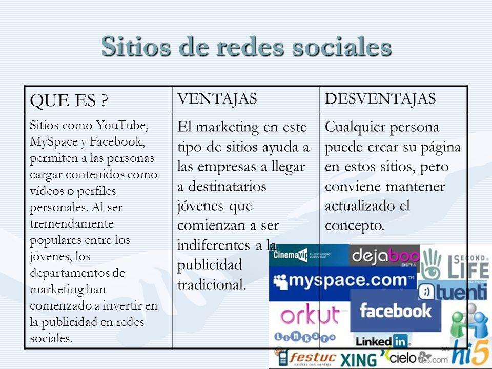 Sitios de redes sociales