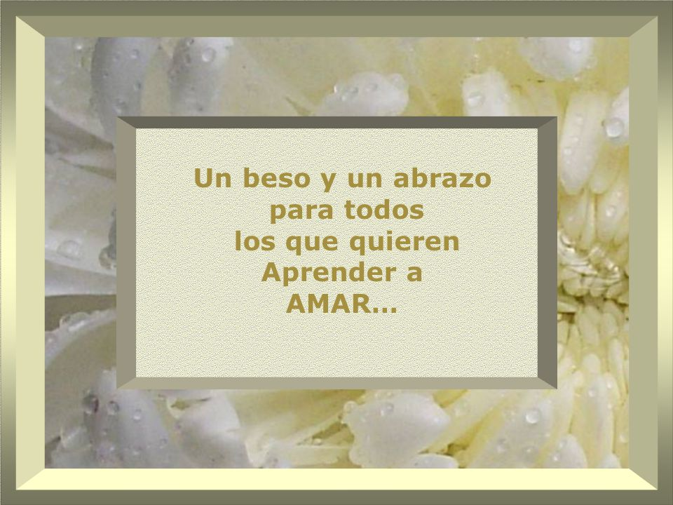 Un beso y un abrazo para todos los que quieren Aprender a AMAR…