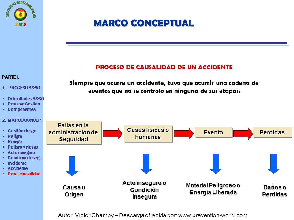 MARCO CONCEPTUAL PROCESO DE CAUSALIDAD DE UN ACCIDENTE