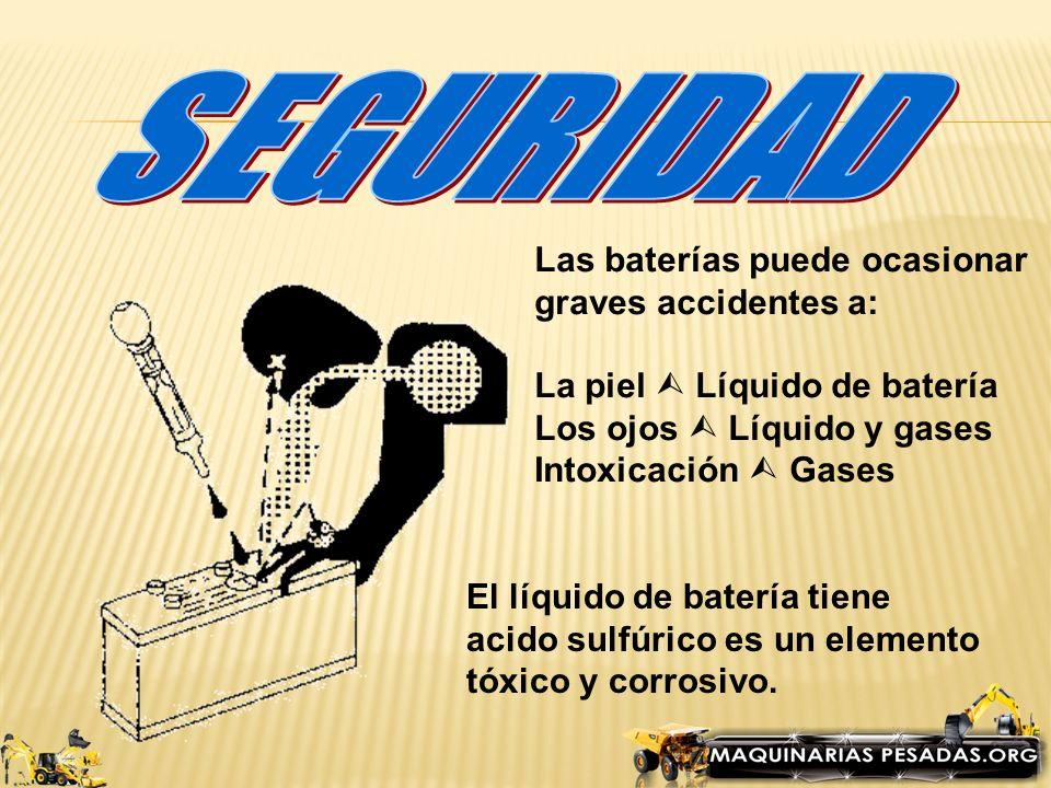 SEGURIDAD Las baterías puede ocasionar graves accidentes a:
