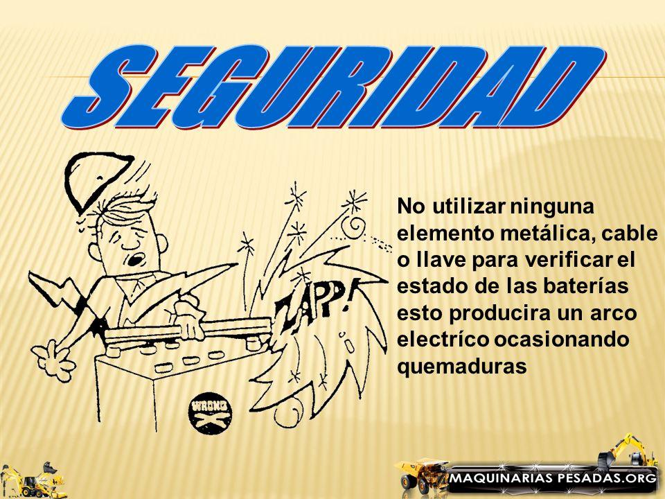 SEGURIDAD No utilizar ninguna elemento metálica, cable