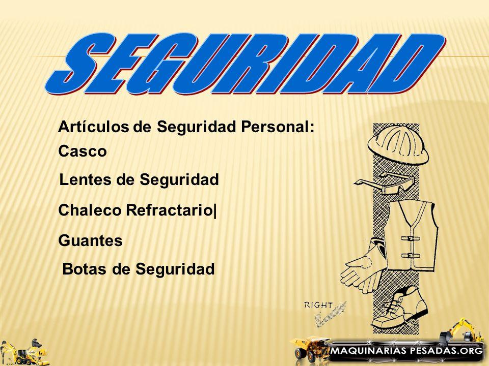 SEGURIDAD Artículos de Seguridad Personal: Casco Lentes de Seguridad