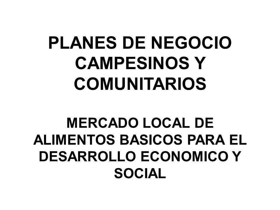 CAMPESINOS Y COMUNITARIOS