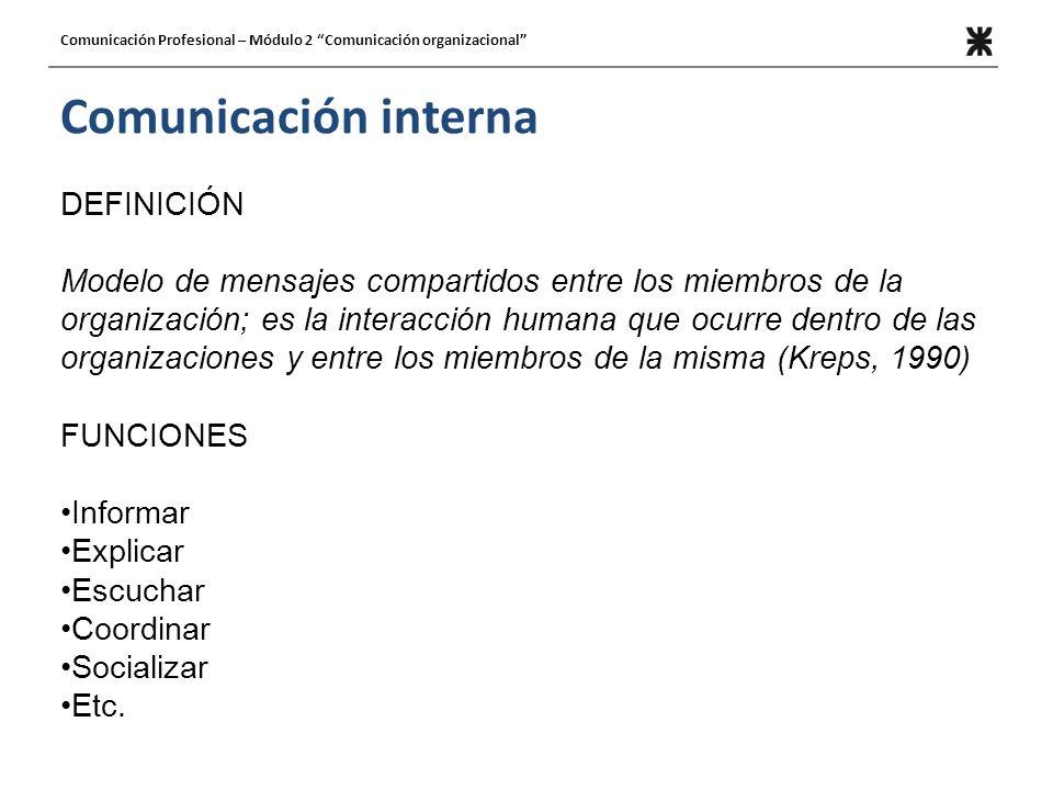 Comunicación interna DEFINICIÓN