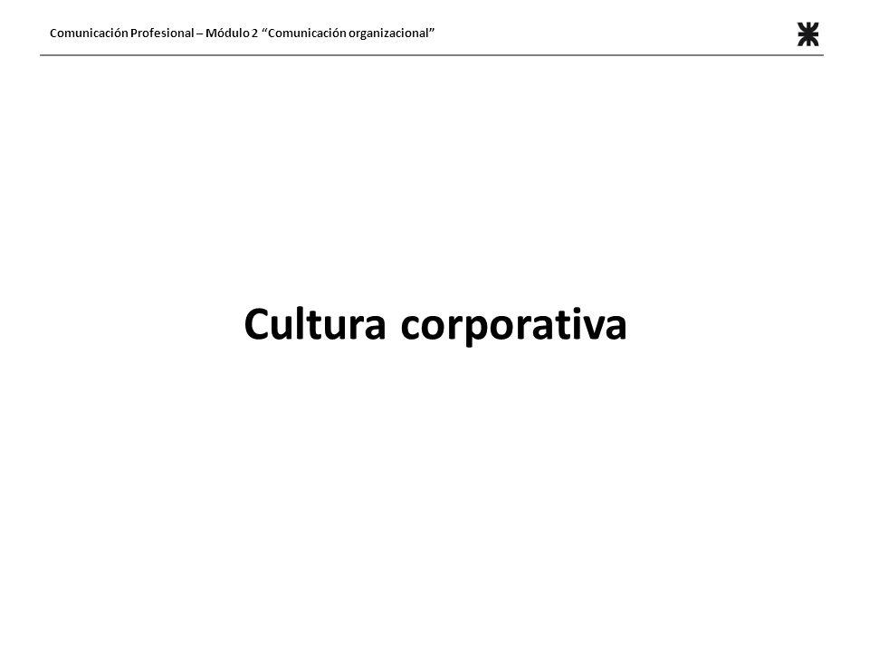 Comunicación Profesional – Módulo 2 Comunicación organizacional
