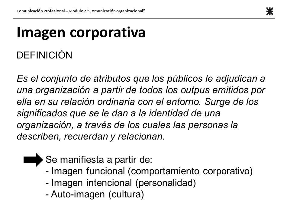 Imagen corporativa DEFINICIÓN