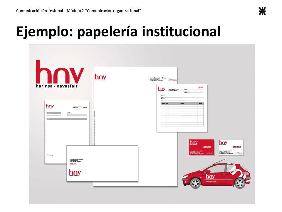 Ejemplo: papelería institucional