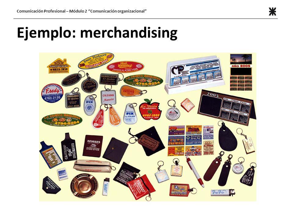 Ejemplo: merchandising
