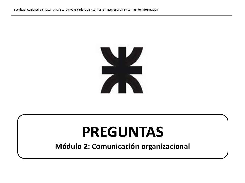 Módulo 2: Comunicación organizacional