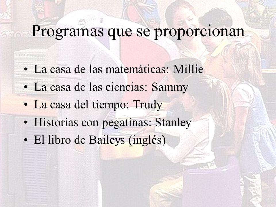Programas que se proporcionan
