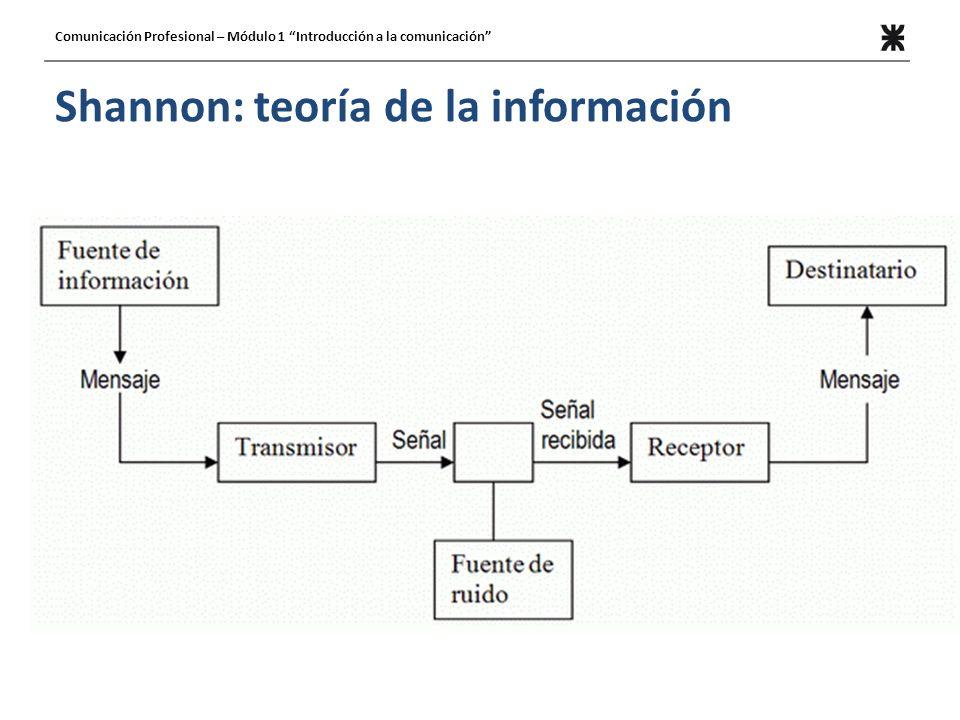 Shannon: teoría de la información