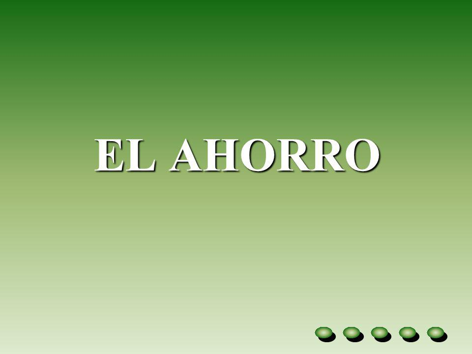 EL AHORRO