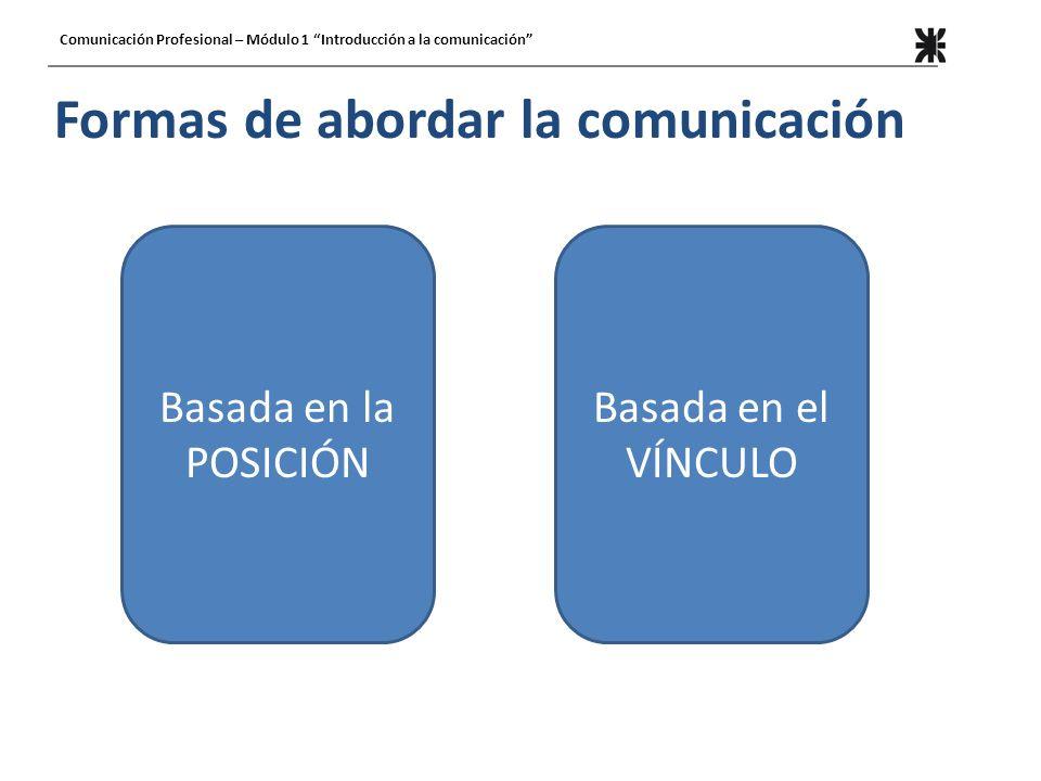 Formas de abordar la comunicación